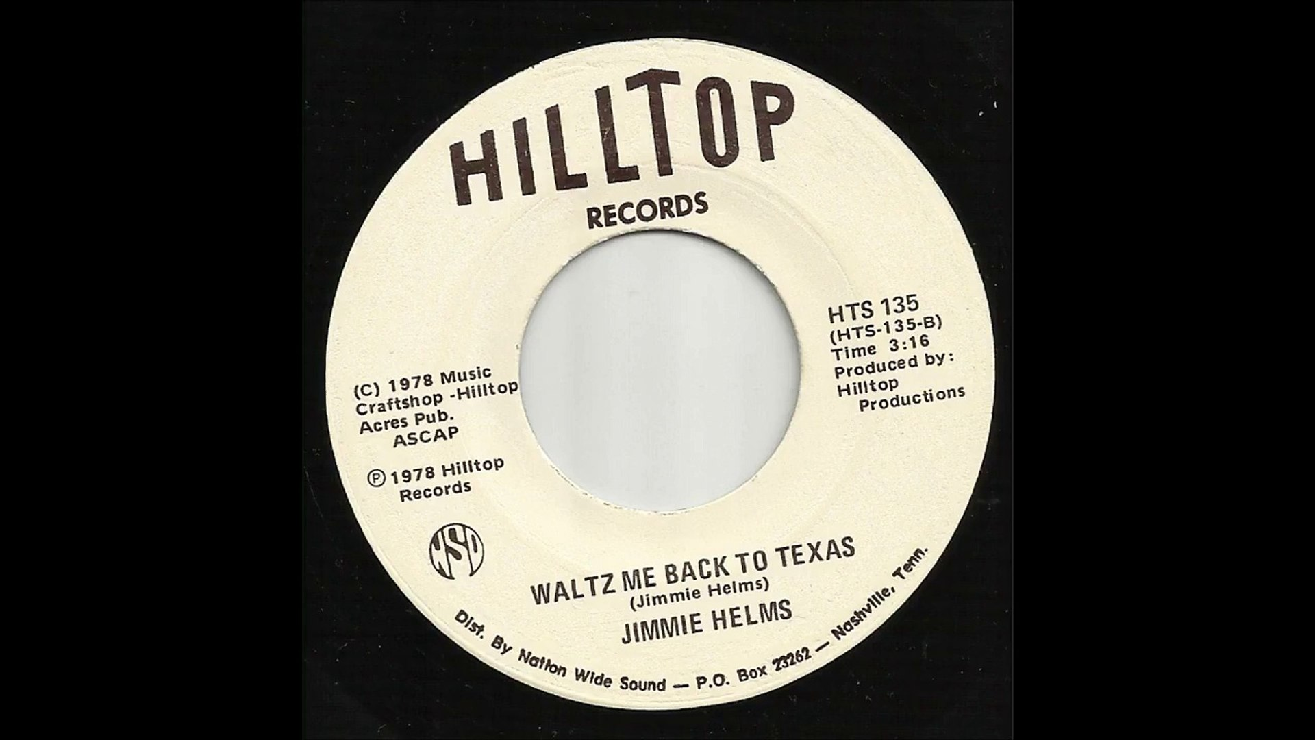 Jimmie Helms - Waltz Me Back To Texas