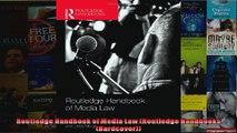 Routledge Handbook of Media Law Routledge Handbooks Hardcover