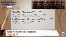 I've Got You Under My Skin - Frank Sinatra Bass Backing Track with scale, chords and lyrics