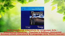 Download  Holt Handbook Literature  Language Arts  Interactive Reading  Teachers Edition Free Books