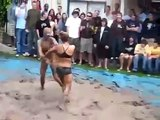turkish oil wrestling women - best video female wrestling bikini match