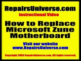 How to install Microsoft Zune Replacement Motherboard