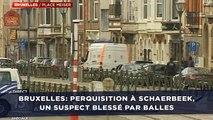 Bruxelles: Perquisition à Schaerbeek, un suspect blessé par balles