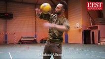 Freestyle foot : les footballeurs du PSG ont choisi le Lorrain Mouloud Allaoua