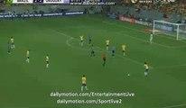 David Luis Horror Foul In luis Suarez - Brazil 2-2 Uruguay