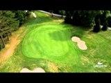 Survol du golf de Chantaco, parcours du Lacoste Ladies Open de France