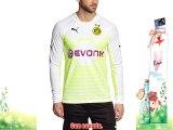 Puma - Camiseta de portero para hombre diseño del Borussia Dortmund blanco blanco/verde/amarillo
