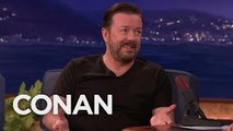 The Ricky Gervais Joke Thats Too Hot For The Golden Globes - CONAN on TBS
