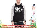 Lonsdale London Sweatshirt Hooded Stockfort - Sudadera para hombre color negro talla M (S UK)