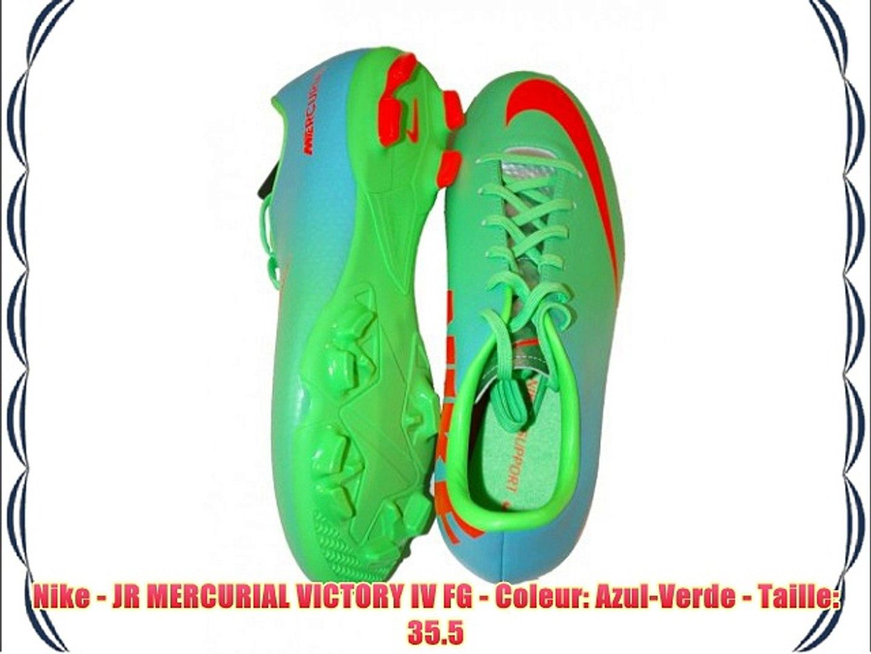 Esmerado Debería Parcial  Nike - JR MERCURIAL VICTORY IV FG - Coleur: Azul-Verde - Taille: 35.5 -  video Dailymotion