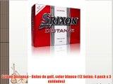 Srixon Distance - Bolas de golf color blanco (12 bolas 4 pack x 3 unidades)