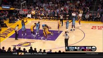Metta World Peace Ejected from Game - Grizzlies vs Lakers - March 22, 2016 - NBA 2015-16 Season