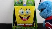 Spongebob Squarepants Talking Cookie Jar meets Sesame Street Cookie Monster eating Play-Doh Cookies!