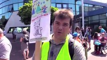 Savigny-sur-Orge. Manifestation du collectif Sauvons l'enfance de Savigny le 6 avril 2015
