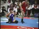 Female Wrestling Japan vs Germany submission hold mat pro wrestling women