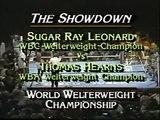 SUGAR RAY LEONARD VS. THOMAS HEARNS (1981) - Boxing Fight Fighting MMA Mixed Martial Arts Sports Match