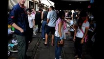 Train Market Outside of Bangkok, Thailand - MUST SEE