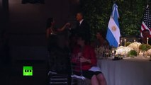 Tango in Argentina: Barack Obama dancing at state visit in Buenos Aires