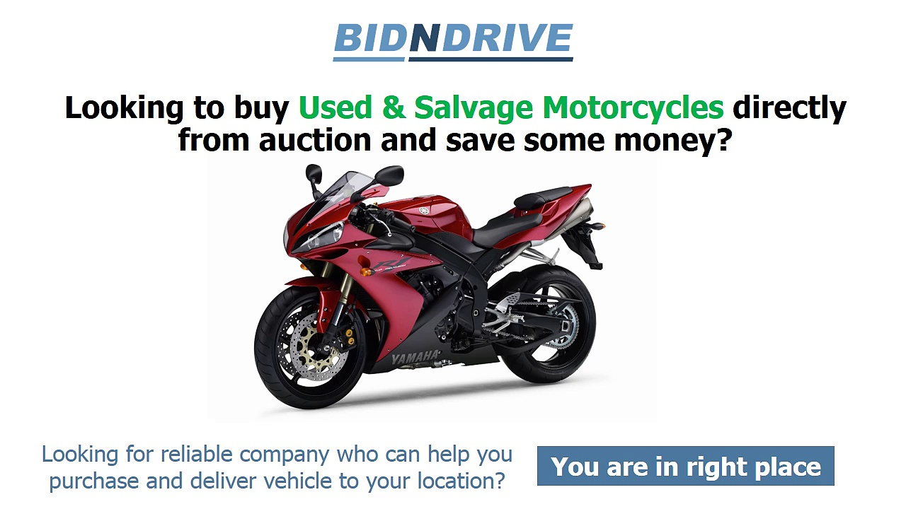 wrecked motorcycles for sale