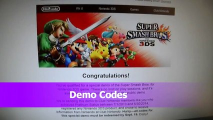 Kintips Channel FREE Giveaway Nintendo Super Smash Bros 3DS DEMO CODES  Subscribe Comment L