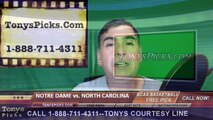 North Carolina Tar Heels vs. Notre Dame Fighting Irish Pick Prediction NCAA College Basketball Odds Preview 3-27-2016