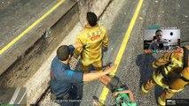POMPIER : INTERVENTION SUR UN ACCIDENT DE LA ROUTE ! | GTA 5 - RESCUE MOD V