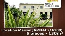 A louer - maison - JARNAC (16200) - 5 pièces - 130m²