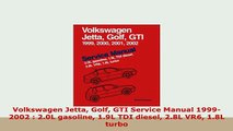 PDF  Volkswagen Jetta Golf GTI Service Manual 19992002  20L gasoline 19L TDI diesel 28L Read Full Ebook