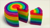 Play Doh Rainbow Cake! How to make a Rainbow Cake! Make a Play Doh Rainbow Cake!