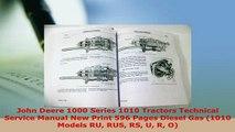 PDF  John Deere 1000 Series 1010 Tractors Technical Service Manual New Print 596 Pages Diesel Download Full Ebook