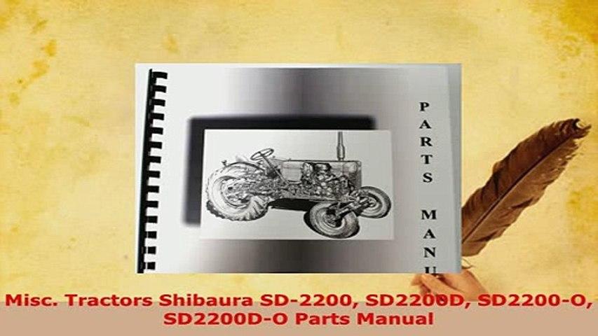 shibaura parts manual ebook