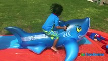 Water Slide for Kids with Giant Shark H2O Go Inflatable Toys Family Fun  Spiderman and Superman doll - Kids List,Cartoon Website,Best Cartoon,Preschool Cartoons,Toddlers Online,Watch Cartoons Online,animated cartoon