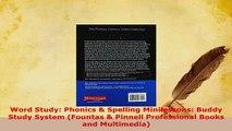 PDF  Word Study Phonics  Spelling Minilessons Buddy Study System Fountas  Pinnell PDF Online