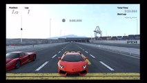 Drag Race Lamborghini Aventador vs Ferrari Enzo [HD] gt5