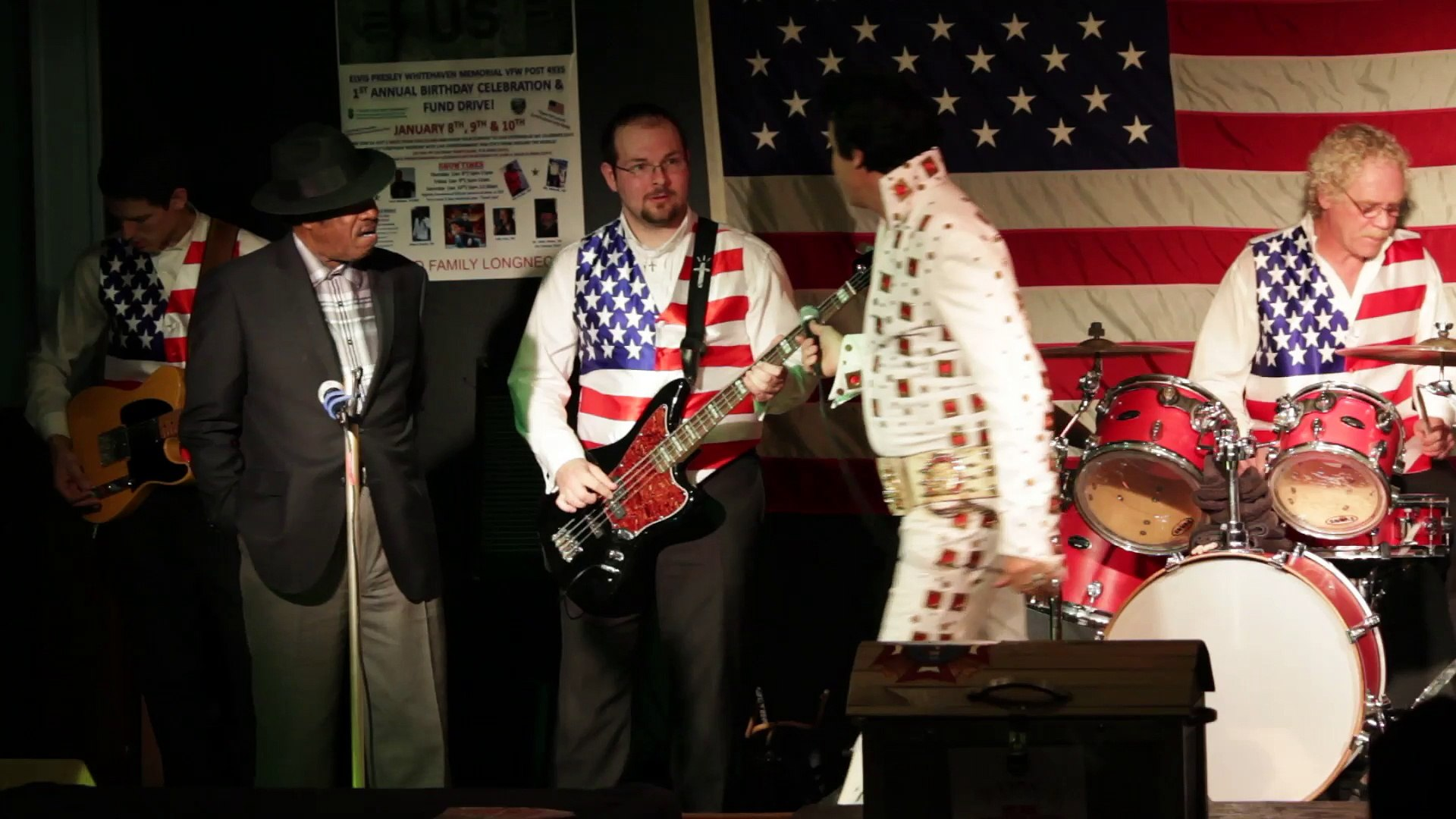 Todd Herendeen and Ben Cauley perform 'Polk Salad Annie' Elvis Presley Memorial VFW 2015