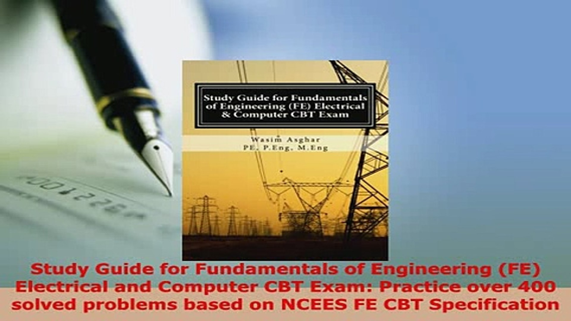PDF Study Guide for Fundamentals of Engineering FE Electrical and Computer  CBT Exam PDF Book Free