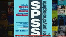 SPSS for Psychologists Fifth Edition