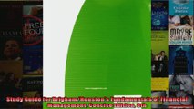Study Guide for BrighamHoustons Fundamentals of Financial Management Concise Edition 8th