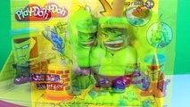 Play-Doh Incredible Hulk & Iron Man Can Heads Smashdown Hulk Smashes Venom Marvel Comics