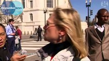 US Capitol tourists on shooting: 'It was very, very scary' – video