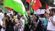 Protest impotriva blocadei din Gaza - protestele celor stransi in parc