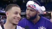 DeMarcus Cousins Openly Mocks George Karl During Seth Curry's Post-Game Interview