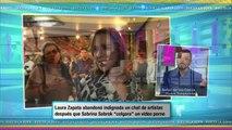 Laura Zapata abandonó un Chat, por video sexual de Sabrina Sabrok (VIDEO)
