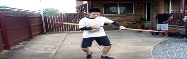 Bayside Black Eagle Arnis Escrima-Long stick formal exercise
