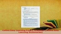 PDF  Collins Easy Learning French Grammar Collins Easy Learning Dictionaries PDF Full Ebook