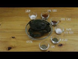Cara Membuat Kepiting Panggang Bumbu Cajun