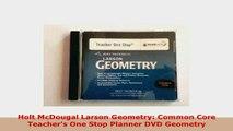 PDF  Holt McDougal Larson Geometry Common Core Teachers One Stop Planner DVD Geometry Download Online