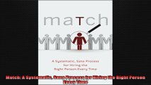 FULL PDF  Match A Systematic Sane Process for Hiring the Right Person Every Time