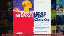 Knowledge Management Basics ASTD Training Basics Series