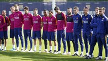 FCB Training Session: First team pays tribute to Johan Cruyff